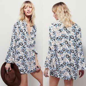 Free People Magic Mystery Floral Tunic Dress